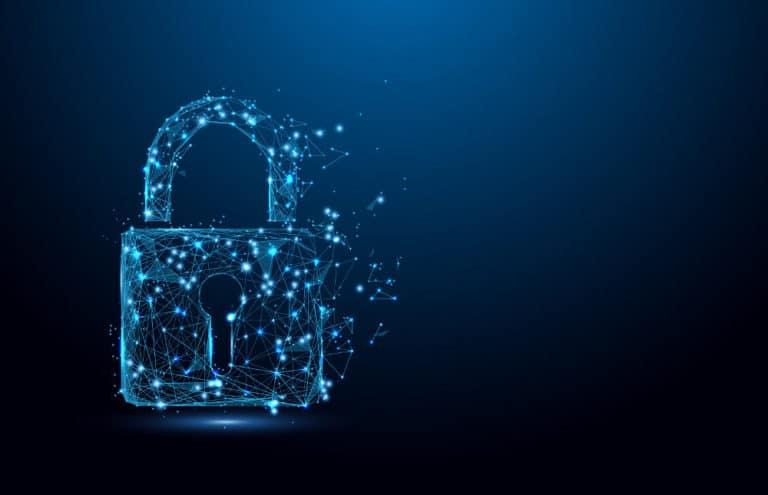 Digital lock to symbolize security