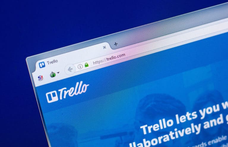 Picture of Trello in browser window