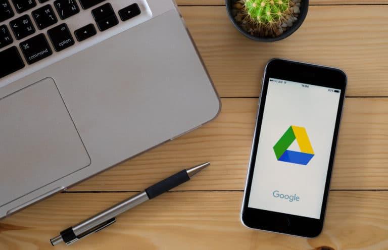 Google Drive on a smartphone