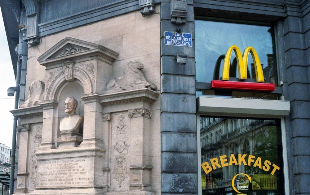 Photo of McDonald's logo on a building