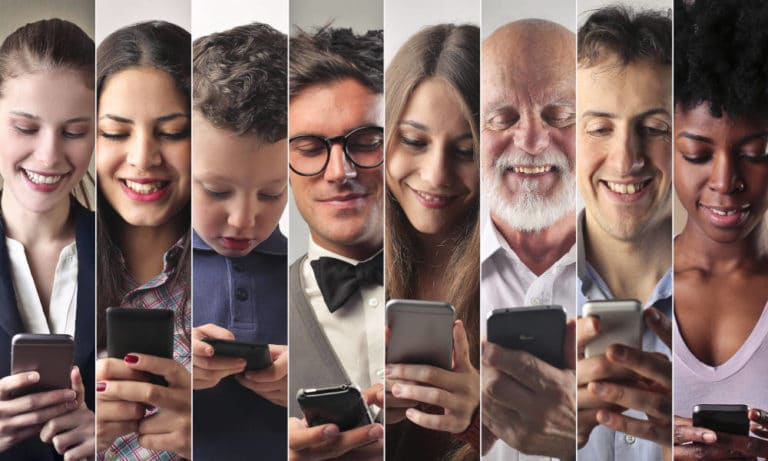 Photo of people on their smartphone