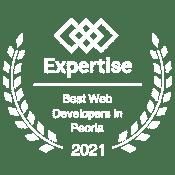Expertise best web developer 2021 badge